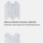 BRACCA SUBWAY HERRINGBONE MOSAIC & HEXAGON